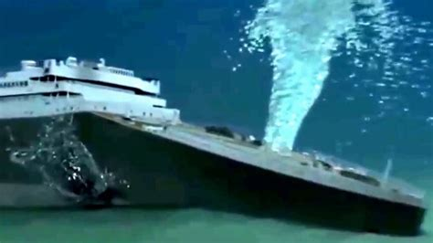 imagenes reales del titanic hundimiento real de el tit 225 nic youtube