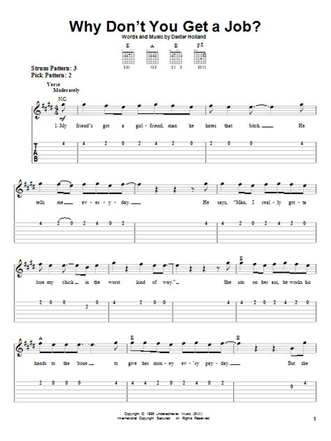 dont get a job 1780677464 why don t you get a job sheet music direct