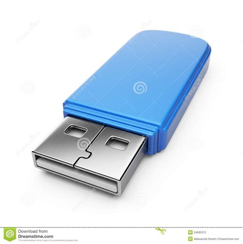 drive 3d blue usb flash drive 3d stock photography image 24695372