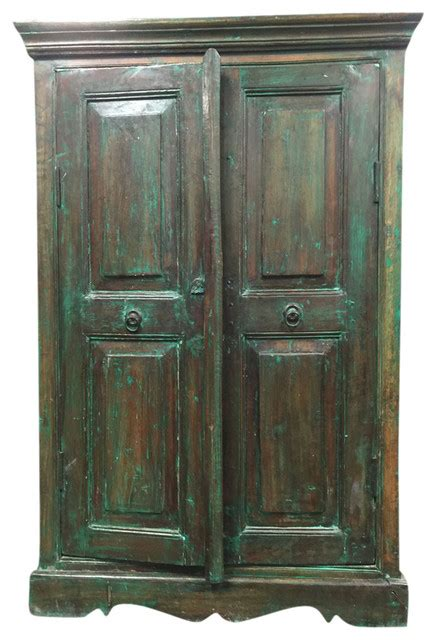 green armoire consigned antique reclaimed wood green armoire storage