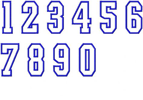 printable sports numbers items similar to sports number applique embroidery font