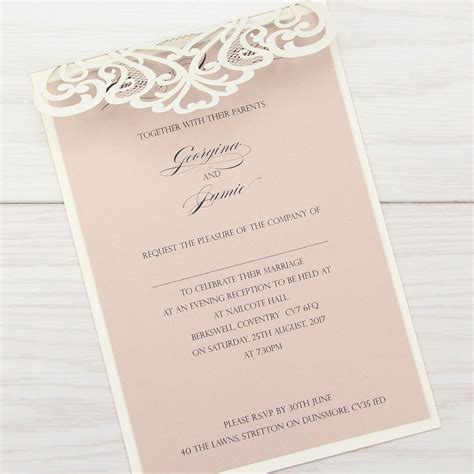 wedding invitations uk josephine evening invitation invitation wedding invites