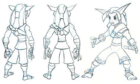 sketchbook guide jak concept sketches characters jak daxter