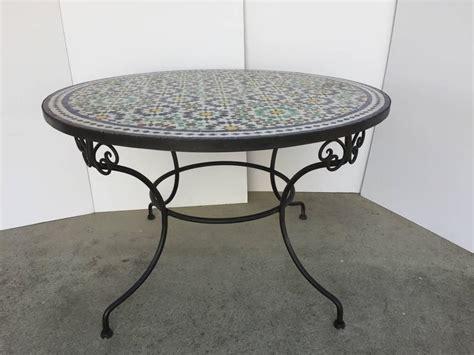moroccan tile outdoor table moroccan mosaic outdoor tile table in fez moorish