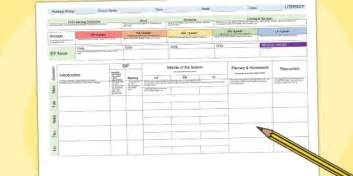 Reading Planning Template by Literacy Weekly Planning Template Lesson Plan Plans