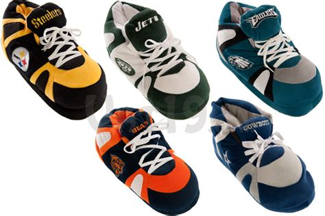comfyfeet nfl sneaker slippers ultra plush design with non skid tread