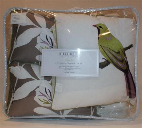 hillcrest paradise embroidered bird full queen 6 pc cotton