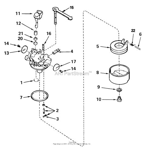 snowblower carburetor diagram carburetor for toro snow thrower parts diagram carburetor