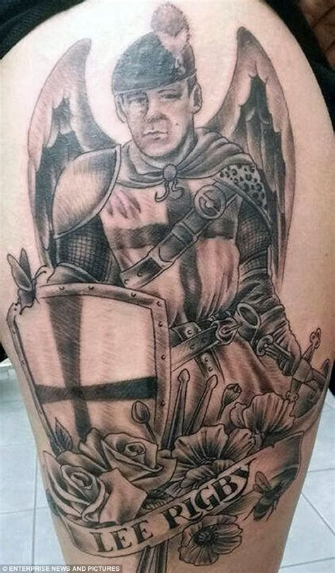 lee rigby s fiancee has tattoo of the dead soldier inked