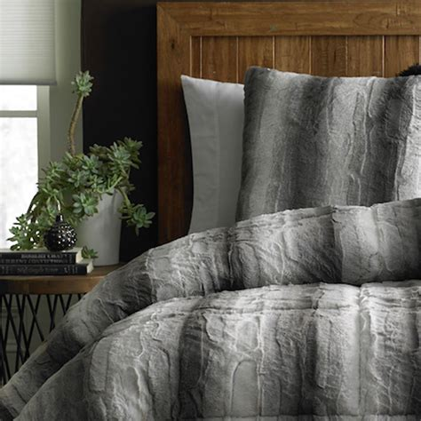 fur comforter cannon fur comforter grey sears