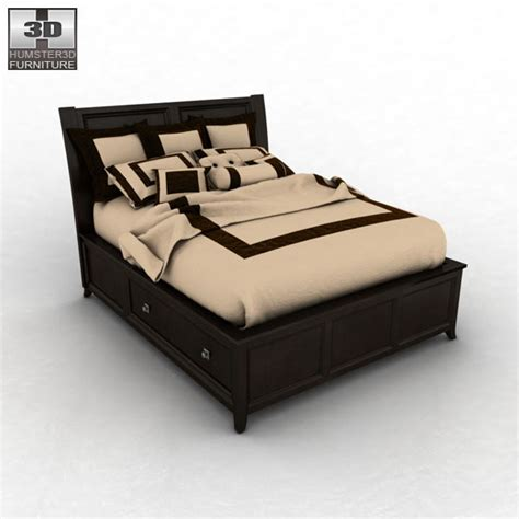 martini bedroom set 3d model of ashley martini suite storage bedroom set bed