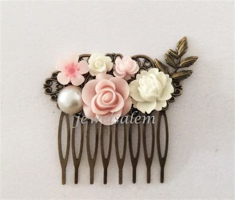 Wedding Hair Accessories Light by Light Pink Comb Wedding Bridal Hair Accessories Blush
