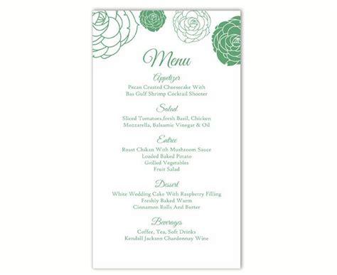 25 best ideas about menu card template on pinterest