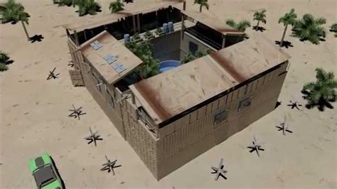 Compound Floor Plans by Zombie Defense Bunker House Shipping Container Youtube