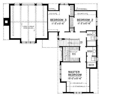 english cottage 43001pf 1st floor master suite corner tasteful english style cottage 43045pf 2nd floor