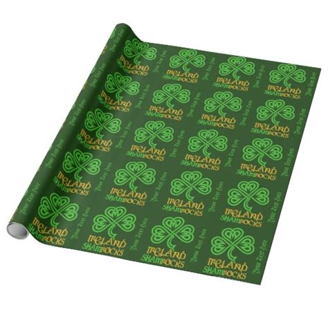 Paper Craft Supplies Ireland - shamrock custom wrapping paper zazzle