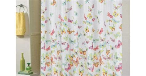 dragonfly shower curtain walmart butterfly carnation home fashions shannon polyester shower
