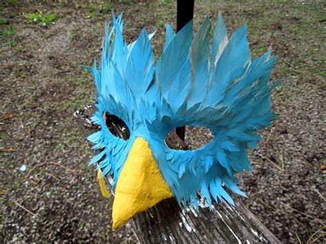 How To Make A Paper Bird Beak Mask - azure bird mask by raena nayrue on deviantart