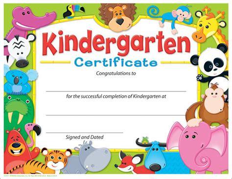 kindergarten certificate awesome animals t 17011