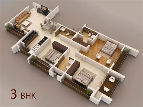 home design 3d 3 bhk interior of vasaione a project by kt mansarovar in vasai west