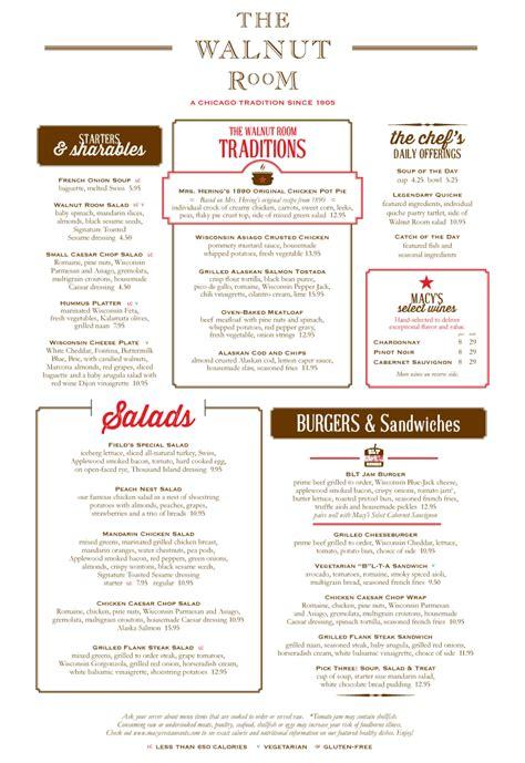 walnut room menu walnut room menu macysrestaurants