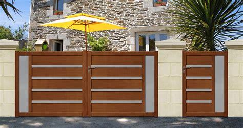 cofreco portail en aluminium aspect bois wwwcofreco