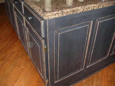 Distressed Black Cabinets by Cabinets And Garage Doors The Magic Brush Inc