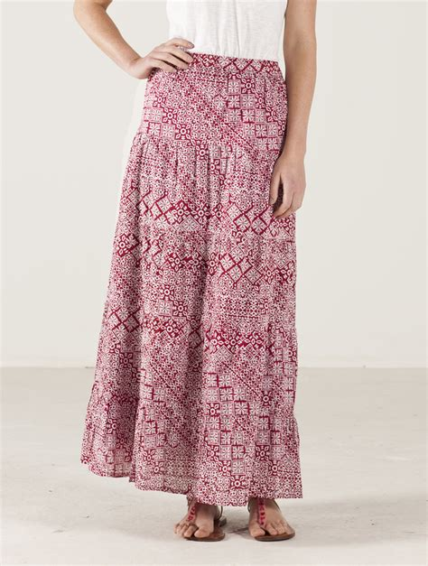 nomads clothing tiered maxi skirt