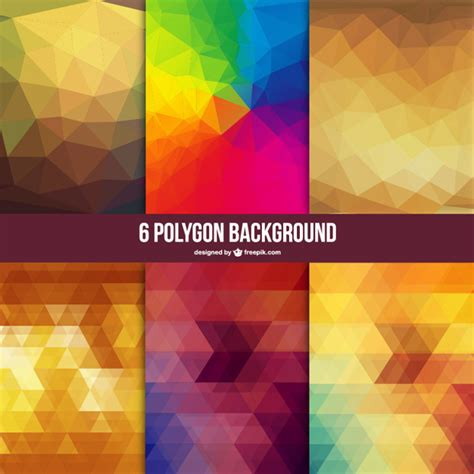vector wallpaper tutorial low poly backgrounds set vector free download