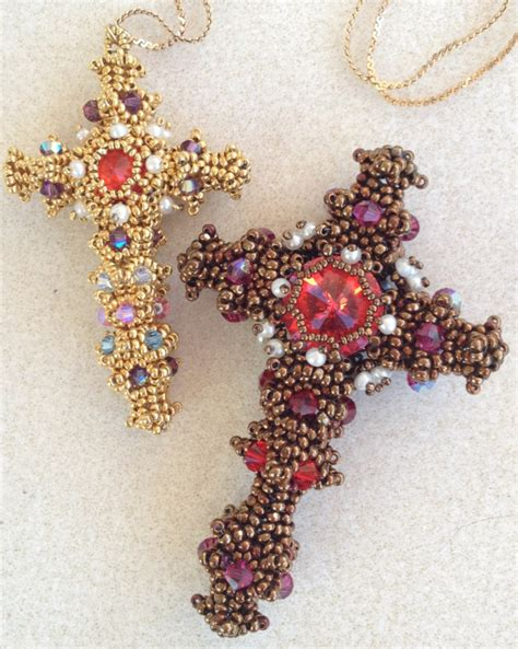 beaded crosses on beaded cross cross pendant