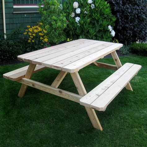 outdoor living today pic65 cedar picnic table atg stores