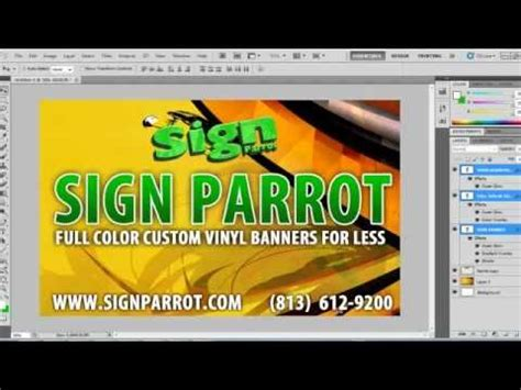 How To Set Up A Vinyl Banner Design In Photoshop Youtube Vinyl Banner Template Photoshop
