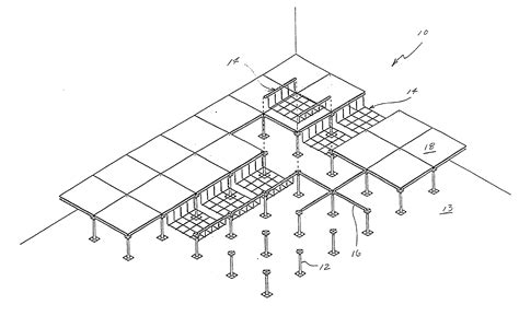 raised floor section patent us20030213191 cable support apparatus for a