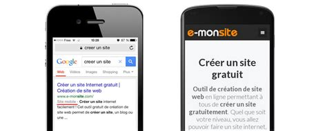 m mobile site mobile friendly crit 232 re de r 233 f 233 rencement pour