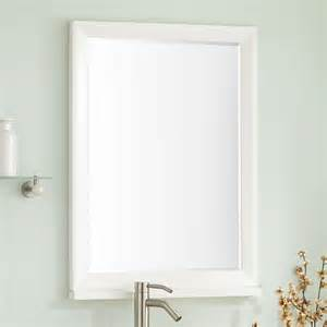 white mirror for bathroom davyn vanity mirror white bathroom mirrors bathroom