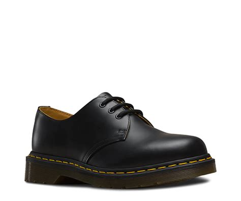 Dr Martin Kulit Black Docmart 1461 smooth s shoes official dr martens store uk