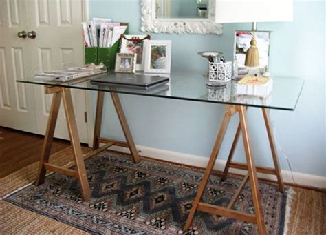 Diy Sawhorse Desk Ikea Trestle Table Legs Top Are The Option For Lots Of Work Space Home Decor Ikea