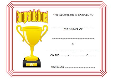 winners certificate template winner certificate template 10 the best template collection
