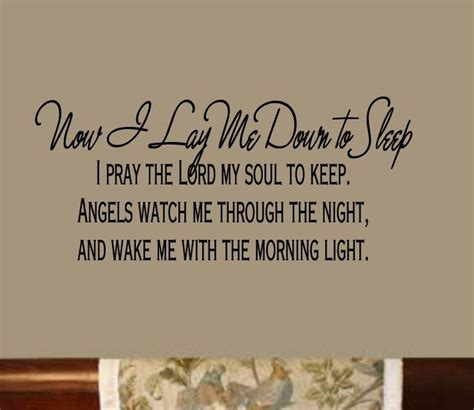 Prayer To Say Before Bed by Now I Lay Me To Sleep 40wx13h Baby S Room Nursery