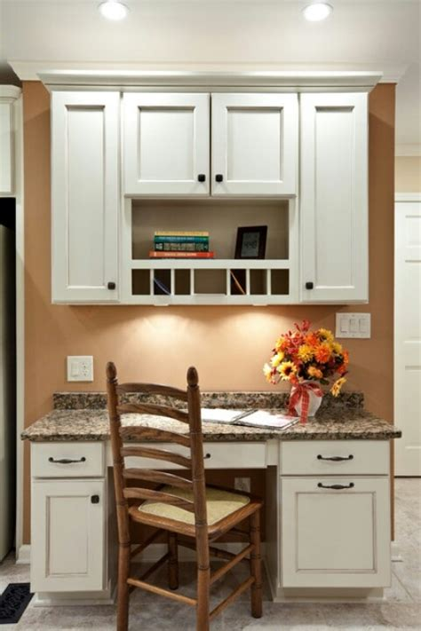 Small Kitchen Desks Built In Kitchen Desk Kitchen Ideas Cubbies And Colors