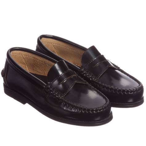 boys loafers children s classics boys black leather loafers