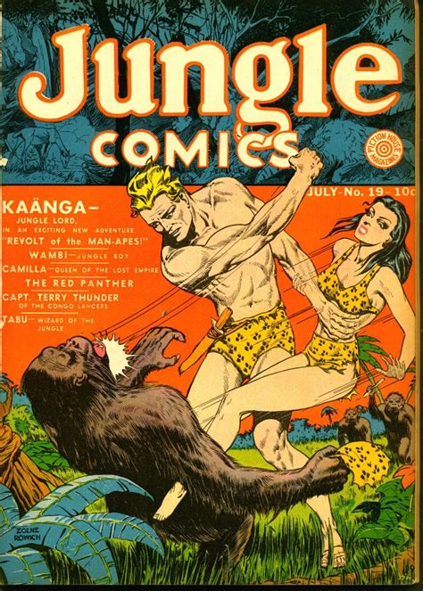 fiction house from pulps to panels from jungles to space books jungle comics 19 fiction house comic book plus