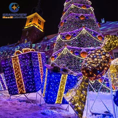 Shopping For Decorative Lights by Gift Box Light Decoration Light Shopping Mall