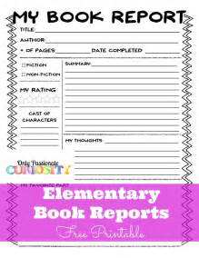 Simple Book Reports For Grade by Elementary Book Reports Made Easy Only Curiosity