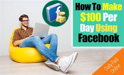 Make Money Online Using Facebook - how to make 100 day using facebook step by step instructions