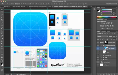 ios photoshop template ios and android app icon photoshop templates digital