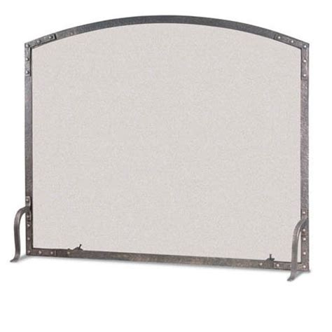 Single Panel Fireplace Screens by Pictured Here Is The Forged Single Panel World Arch Fireplace Screen By Pilgrim Home