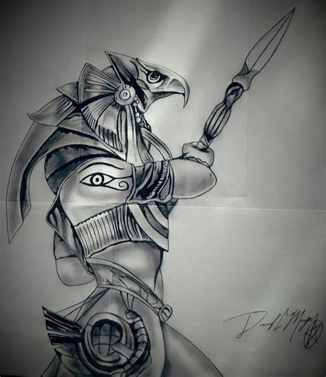 Spear Of Seth the gallery for gt horus god drawing