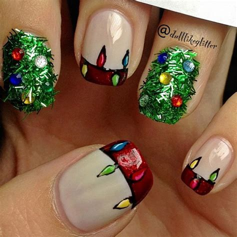 saving the world one nail at a time christmas tree nail