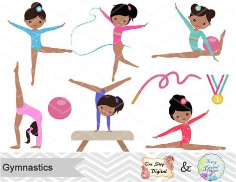gymnast clip gymnastics digital clipart digital gymnastics clip